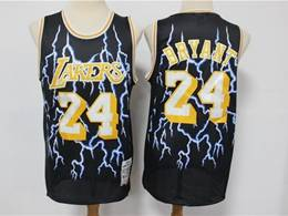 Mens Nba Los Angeles Lakers #24 Kobe Bryant Black Lightning Mitchell&ness Hardwood Classics Limited Jersey