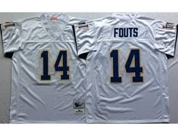 Mens Nfl San Diego Chargers #14 Dan Fouts White Mitchell&ness Throwback Jersey
