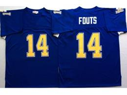 Mens Nfl San Diego Chargers #14 Dan Fouts Blue Mitchell&ness Throwback Jersey