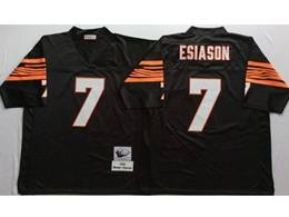 Mens Nfl Cincinnati Bengals #7 Boomer Esiason Brown Mitchell&ness Throwback Jersey