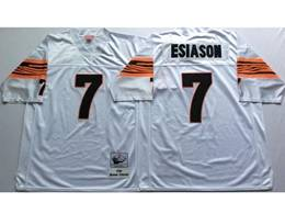 Mens Nfl Cincinnati Bengals #7 Boomer Esiason White Mitchell&ness Throwback Jersey