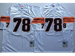 Mens Nfl Cincinnati Bengals #78 Anthony Munoz White Mitchell&ness Throwback Jersey