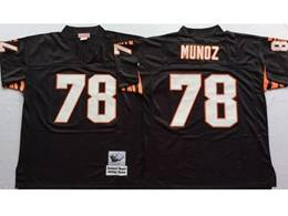 Mens Nfl Cincinnati Bengals #78 Anthony Munoz Brown Mitchell&ness Throwback Jersey