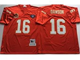 Mens Nfl Kansas City Chiefs #16 Len Dawson Red Mitchell&ness Throwback Jersey