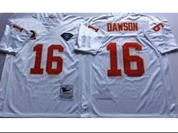 Mens Nfl Kansas City Chiefs #16 Len Dawson White Mitchell&ness Throwback Jersey