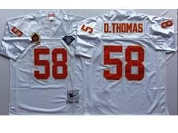 Mens Nfl Kansas City Chiefs #58 Derrick Thomas White Mitchell&ness Throwback Jersey