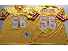 Mens Nfl Tampa Bay Buccaneers #56 Nickerson Yellow Mitchell&ness Throwback Jersey