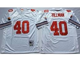 Mens Nfl Arizona Cardinals #40 Pat Tillman White Mitchell&ness Throwback Jersey