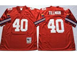 Mens Nfl Arizona Cardinals #40 Pat Tillman Red Mitchell&ness Throwback Jersey