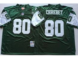 Mens Nfl New York Jets #80 Wayne Chrebet Green Mitchell&ness Throwback Jersey