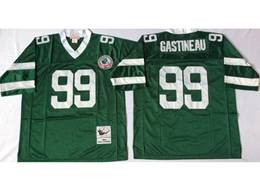 Mens Nfl New York Jets #99 Mark Gastineau Green Mitchell&ness Throwback Jersey