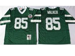 Mens Nfl New York Jets #85 Walker Green Mitchell&ness Throwback Jersey