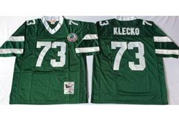 Mens Nfl New York Jets #73 Joe Klecko Green Mitchell&ness Throwback Jersey