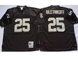 Mens Nfl Oakland Raiders #25 Fred Biletnikoff Black Mitchell&ness Throwback Jersey