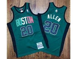 Mens Nba Boston Celtics #20 Ray Allen Green Mitchell&ness Hardwood Classics Swingman Jersey