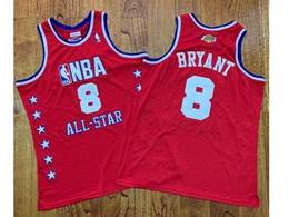 Mens Nba Los Angeles Lakers #8 Kobe Bryant Red All Star Mitchell&ness Hardwood Classics Jersey