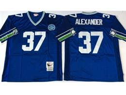 Mens Nfl Seattle Seahawks #37 Alexander Blue Mitchell&ness Throwback Jersey