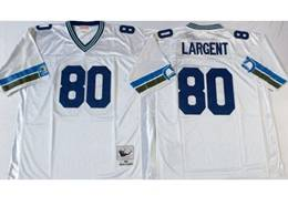 Mens Nfl Seattle Seahawks #80 Steve Largent White Mitchell&ness Throwback Jersey