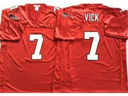 Mens Nfl Nike Atlanta Falcons #7 Michael Vick Red Mitchell&ness Throwback Jersey
