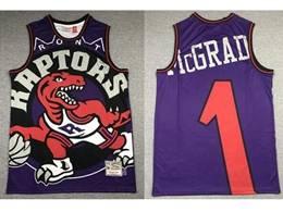 Mens Nba Toronto Raptors #1 Tracy Mcgrady Purple Printing Mitchell&ness Hardwood Classics Jersey
