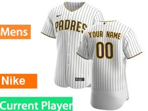Mens San Diego Padres Current Player Home 2020 Nike White Stripe Flex Base Jersey