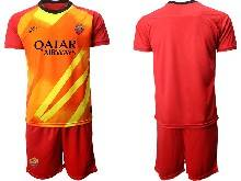 Mens 20-21 Soccer As Roma Club ( Custom Made ) Red Goalkeeper Short Sleeve Suit Jersey