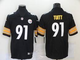 Mens Pittsburgh Steelers #91 Stephon Tuitt Black Vapor Untouchable Limited Jersey