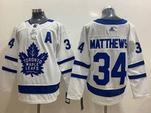 Mens Nhl Toronto Maple Leafs #34 Auston Matthews White Hockey Adidas Jersey