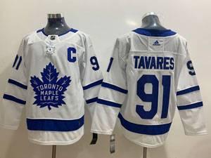 Mens Women Youth Nhl Toronto Maple Leafs #91 John Tavares White Away Adidas Jersey