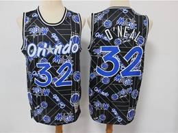 Mens Nba Orlando Magic #32 Shaouille O'neal Black Hwc Printing Tear Up Pack Mitchell&ness Swingman Jersey