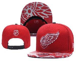 Mens Nhl Detroit Red Wings Falt Snapback Adjustable Hats Red