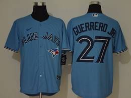Mens Mlb Toronto Blue Jays #27 Guerrero Jr. Light Blue Cool Base Nike Jersey