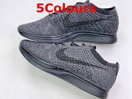 Mens And Women Nike Flyknit Racer Running Shoes 5 Colors