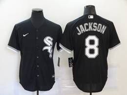 Mens Mlb Chicago White Sox #8 Bo Jackson Black Cool Base Nike Jersey