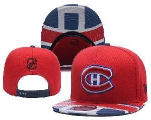 Mens Nhl Montreal Canadiens Falt Snapback Adjustable Hats Red Blue
