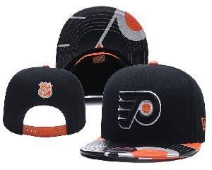 Mens Nhl Philadelphia Flyers Falt Snapback Adjustable Hats Black