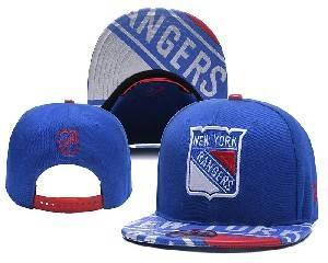 Mens Nhl New York Rangers Falt Snapback Adjustable Hats Blue