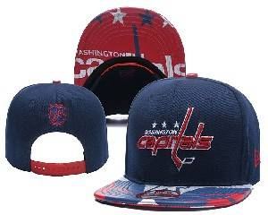 Mens Nhl Washington Capitals Falt Snapback Adjustable Hats Blue