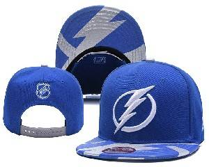 Mens Nhl Tampa Bay Lightning Falt Snapback Adjustable Hats Blue