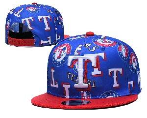 Mens Mlb Texas Rangers Falt Snapback Adjustable Hats Blue