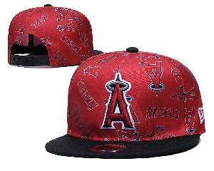 Mens Mlb Los Angeles Angels Falt Snapback Adjustable Hats Red