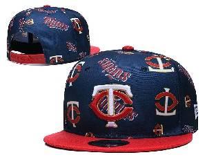 Mens Mlb Minnesota Twins Falt Snapback Adjustable Hats Blue
