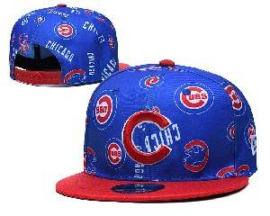 Mens Mlb Chicago Cubs Falt Snapback Adjustable Hats Blue