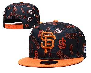 Mens Mlb San Francisco Giants Falt Snapback Adjustable Hats Black