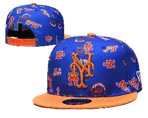 Mens Mlb New York Mets Falt Snapback Adjustable Hats Blue