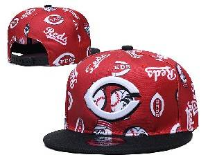 Mens Mlb Cincinnati Reds Falt Snapback Adjustable Hats Red