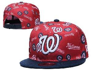 Mens Mlb Washington Nationals Falt Snapback Adjustable Hats Red
