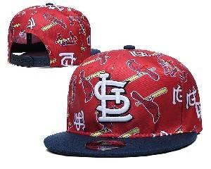 Mens Mlb St. Louis Cardinals Falt Snapback Adjustable Hats Red