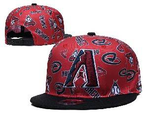 Mens Mlb Arizona Diamondbacks Falt Snapback Adjustable Hats Red
