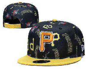 Mens Mlb Pittsburgh Pirates Falt Snapback Adjustable Hats Black